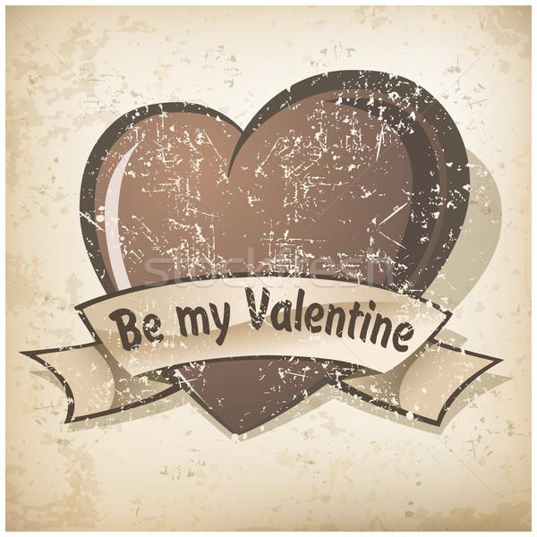Valentine's Day grange heart  Stock photo © creatOR76