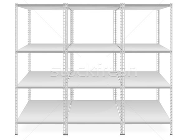 Empty bookshelves  Stock photo © creatOR76