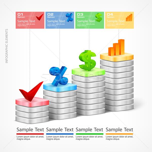 Indication elements & text Stock photo © creatOR76