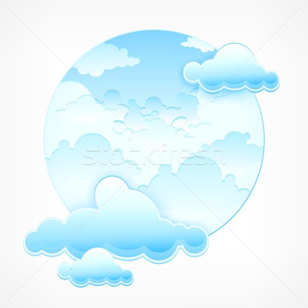 Blue sky in round Stock photo © creatOR76