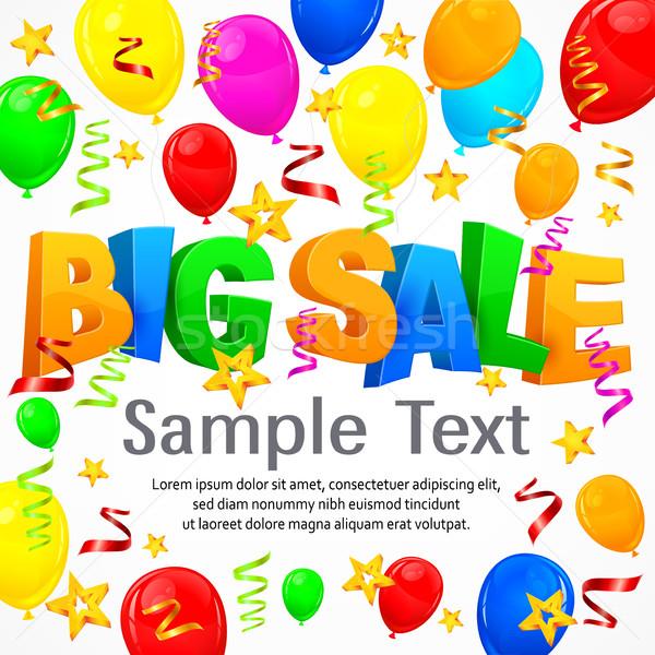 Big sale inscription on background Stock photo © creatOR76