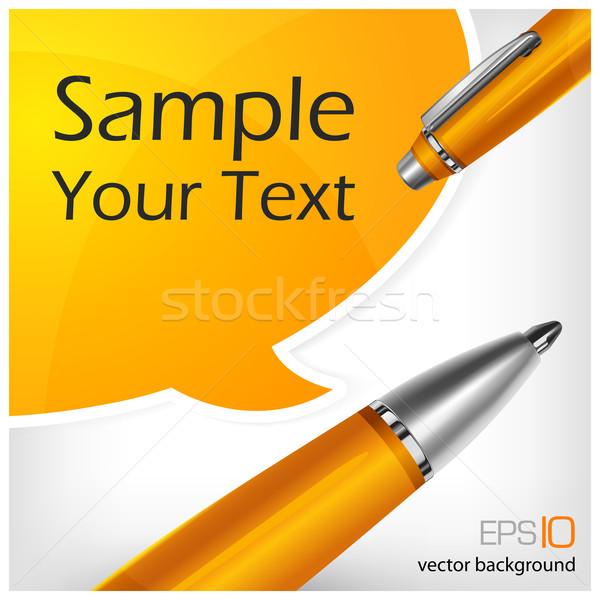 speech bubbles & pen with text Stock photo © creatOR76