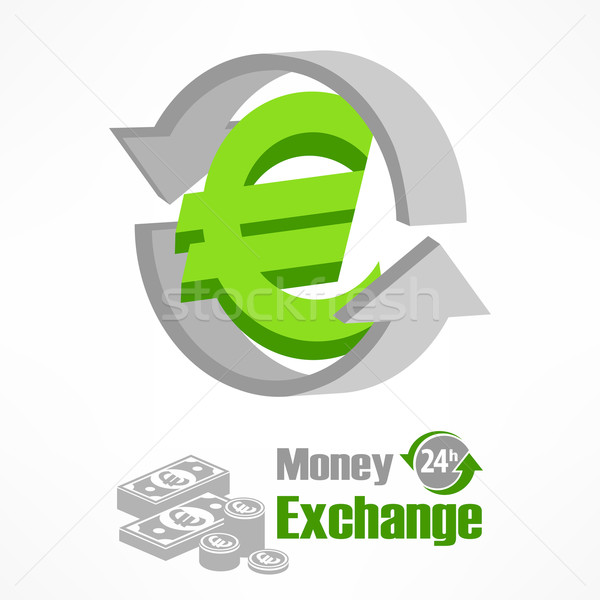 Euro symbol in green Stock photo © creatOR76