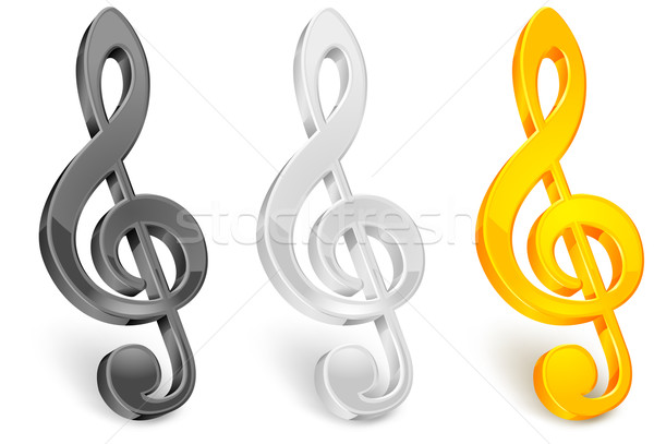Golor treble clef  Stock photo © creatOR76
