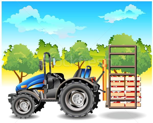 Tractor on field Stock photo © creatOR76
