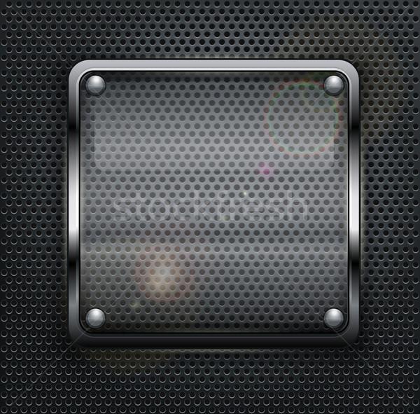 広場 webボタン 暗い メタリック フレーム ストックフォト © creatOR76