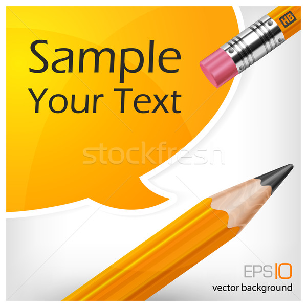 speech bubbles & pencil with text Stock photo © creatOR76