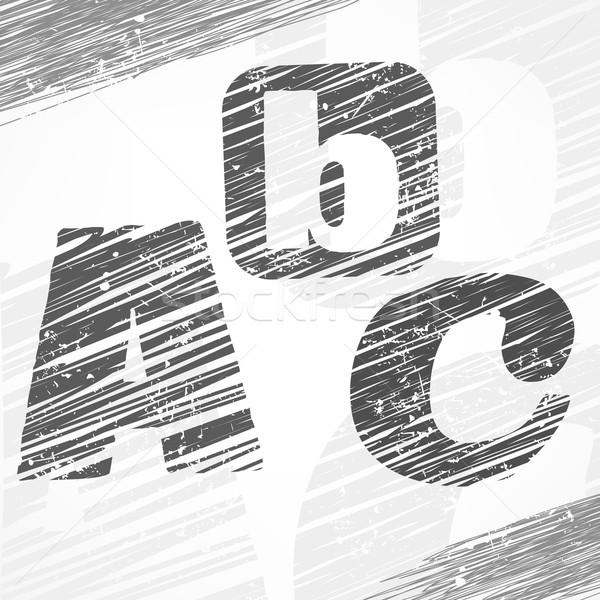 Cartas boceto gris color arte educación Foto stock © creatOR76