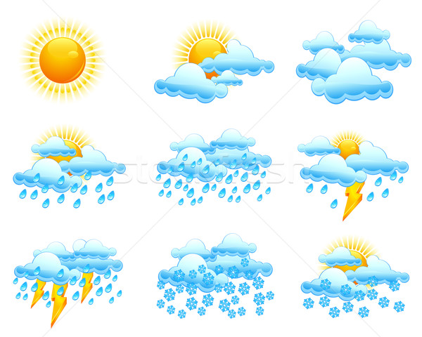 Weather icons Stock photo © creatOR76