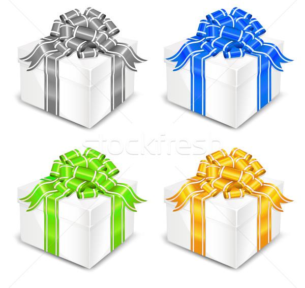 Four white boxes  Stock photo © creatOR76