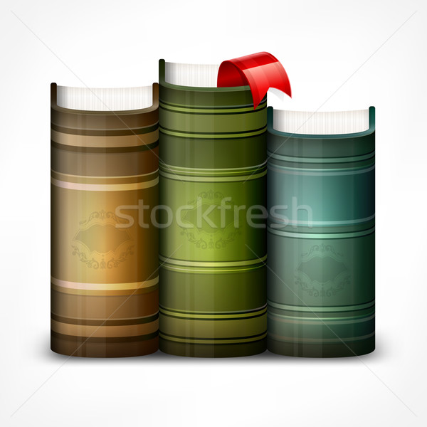 Stack of books on white Stock photo © creatOR76