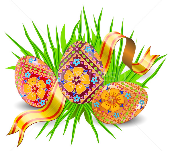 Easter eggs  Stock photo © creatOR76