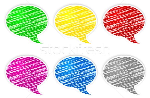 Round speech bubbles Stock photo © creatOR76