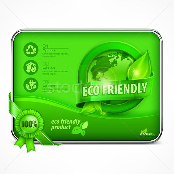 Környezetbarát infografika zöld természet háttér Föld Stock fotó © creatOR76