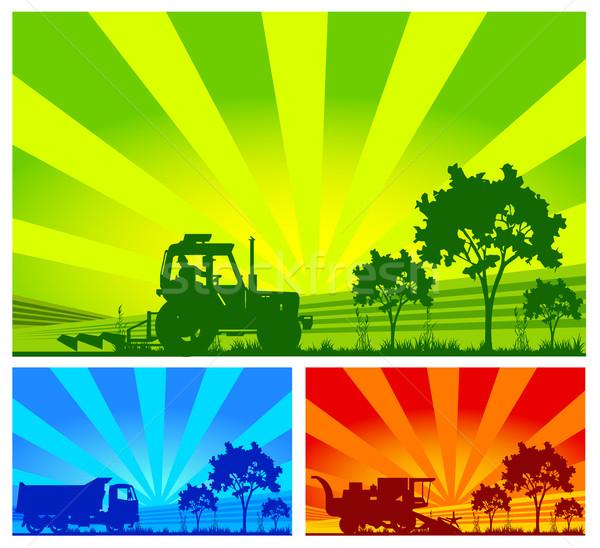 ストックフォト: 農業の · 機械 · トラクター · フィールド · ビジネス