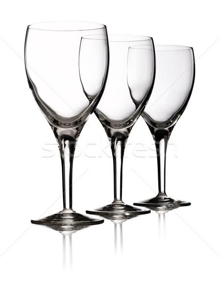 Three glasses red wine Stock photo © crisp