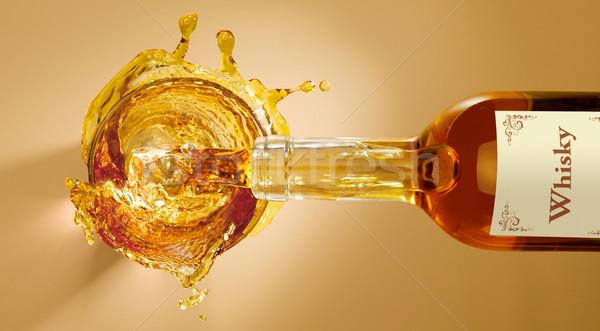 Splash whisky mout Stockfoto © crisp