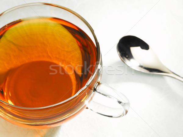 Csésze tea felső lövés Stock fotó © crisp