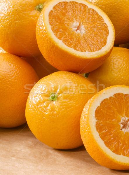 Laranja abrir fechado fresco laranjas Foto stock © crisp