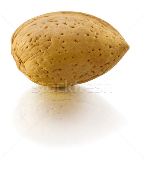 Stock photo: Almond in nutshell