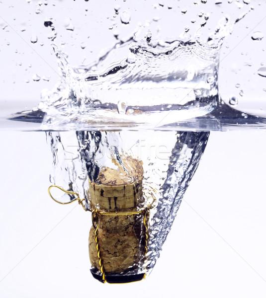 Champán corcho frío vino beber Foto stock © crisp