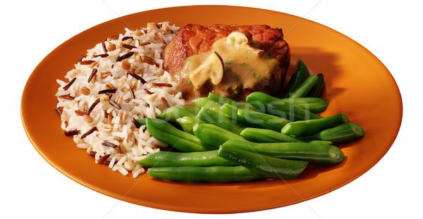plate of green beans Stock photo © crisp
