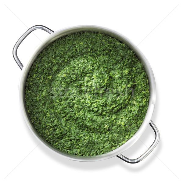приготовления шпинат Top выстрел Сток-фото © crisp