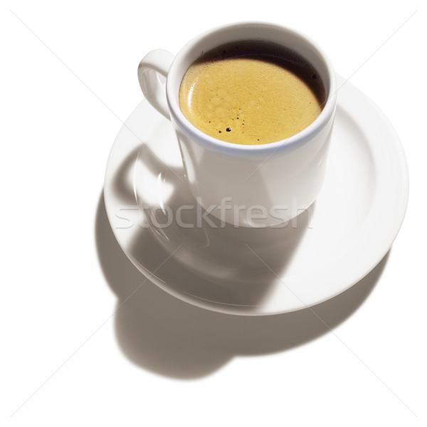 Fincan kahve üst atış beyaz Stok fotoğraf © crisp
