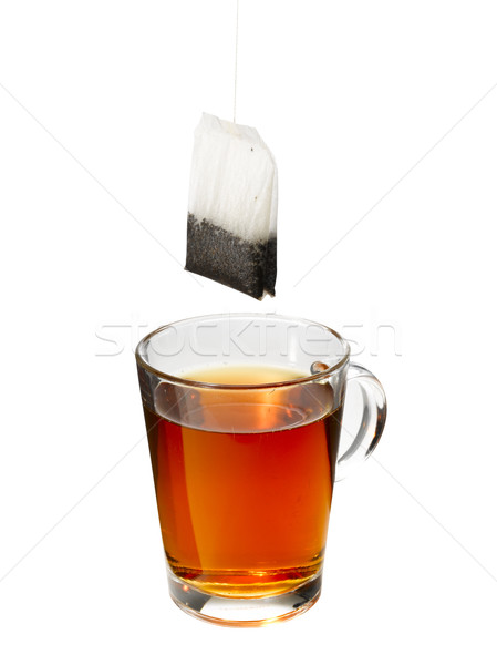 çay asılı üzerinde cam turuncu Stok fotoğraf © crisp