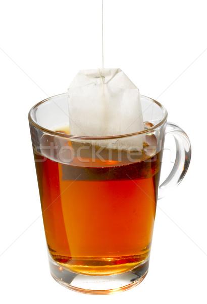 Кубок чай сумку подвесной изолированный белый Сток-фото © crisp