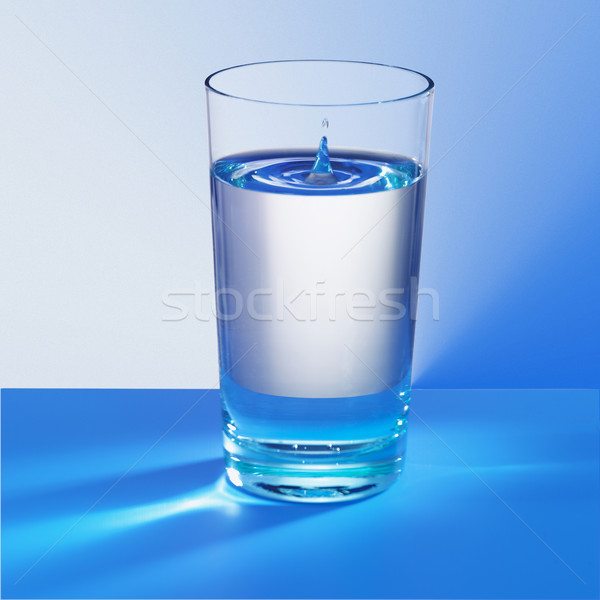 Soğuk cam mavi su damla Stok fotoğraf © crisp