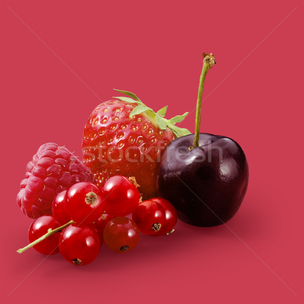Mix de frutas vermelho fruto saúde morango Foto stock © crisp