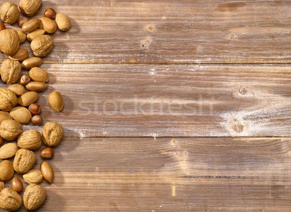 Nut mix in Nutshell Stock photo © crisp