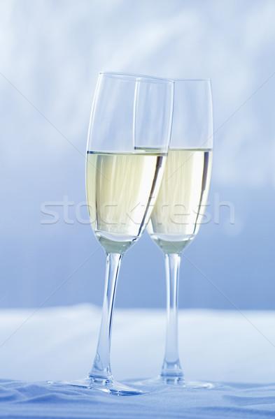 Tost kar şampanya kutlama Stok fotoğraf © crisp