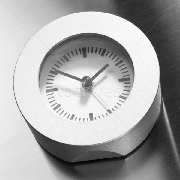 Saat temizlemek basit gümüş Stok fotoğraf © crisp