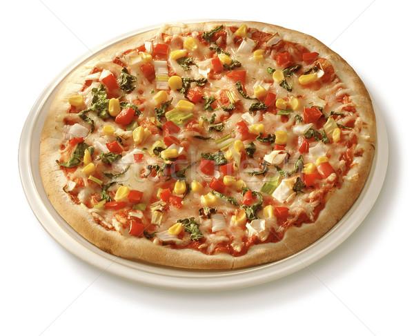 пиццы пластина свежие горячей сыра Сток-фото © crisp