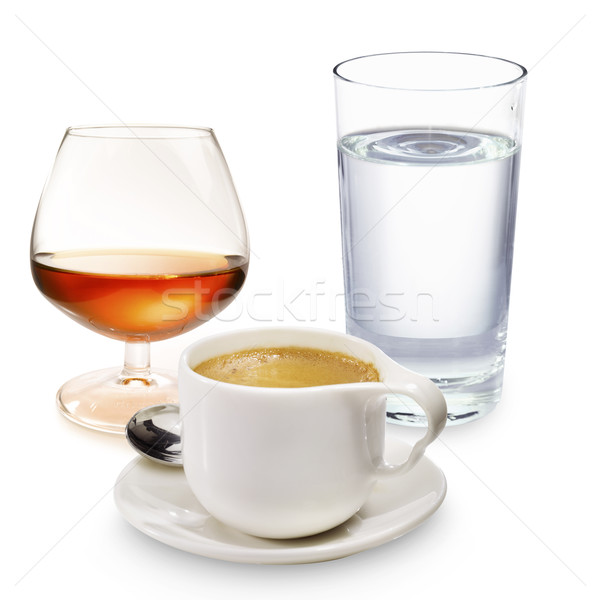 Coffee liqueur and a glass of water Stock photo © crisp