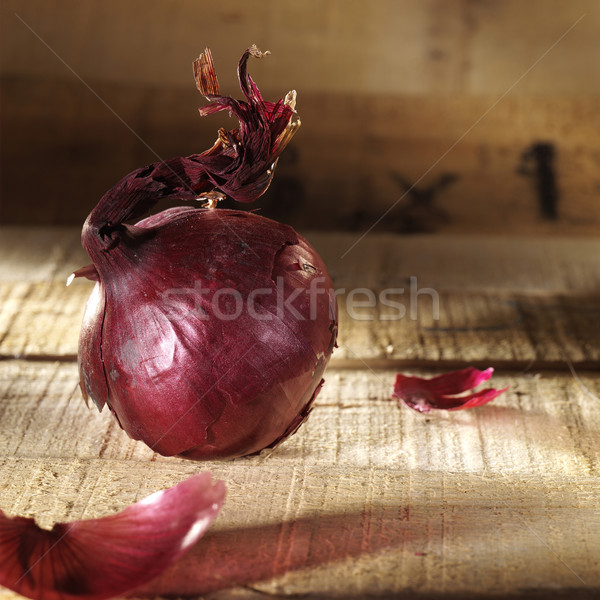 Yanan kırmızı kâğıt ahşap Stok fotoğraf © crisp
