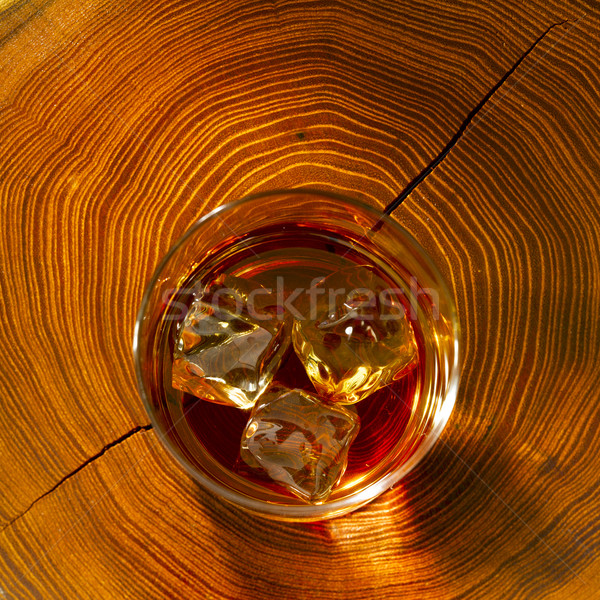 виски пород древесины стекла куб выстрел Сток-фото © crisp