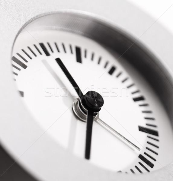 Saat temizlemek basit duvar elma Stok fotoğraf © crisp