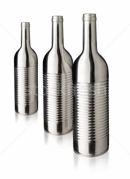 çelik can üç şişeler beyaz Stok fotoğraf © crisp