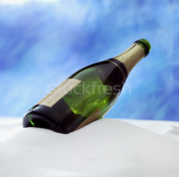 Champanhe neve vazio comida vinho aniversário Foto stock © crisp
