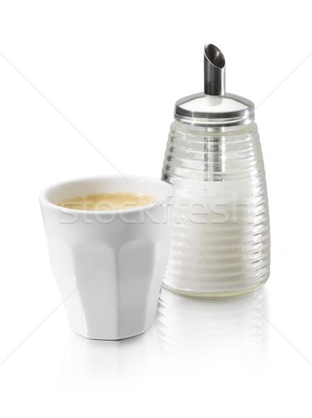 Xícara de café raio café branco Foto stock © crisp