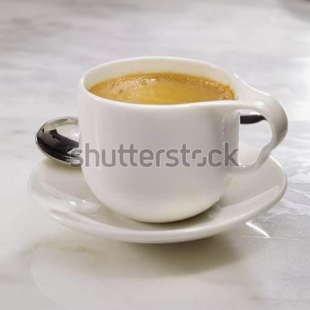 Fincan kahve kahve fincanı bar İtalyan tohumları Stok fotoğraf © crisp