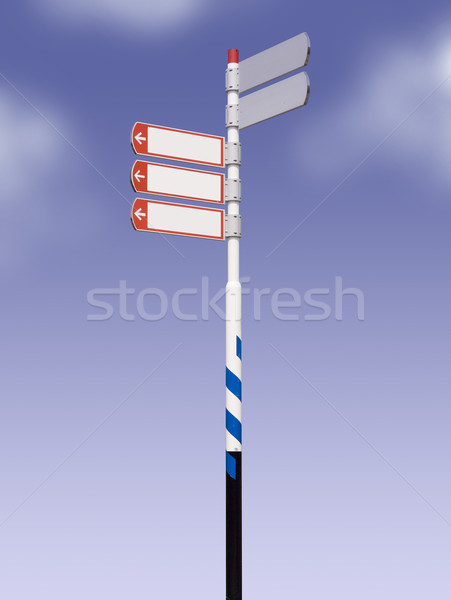 Sokak işareti mavi gökyüzü yol sanayi başarı pazarlama Stok fotoğraf © crisp