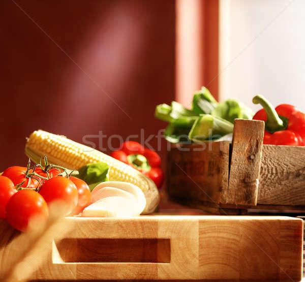 Sebze taze pizza malzemeler pazar Stok fotoğraf © crisp