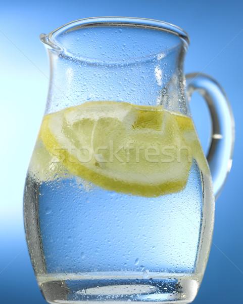 кувшин воды лимона синий фрукты Сток-фото © crisp