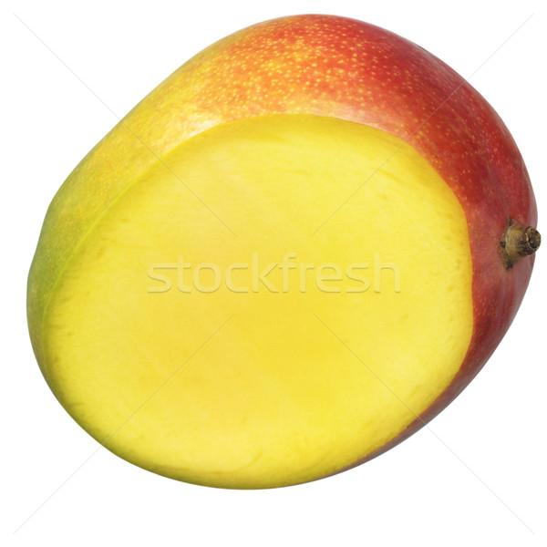Yarım mango güzel yeşil kırmızı sarı Stok fotoğraf © crisp