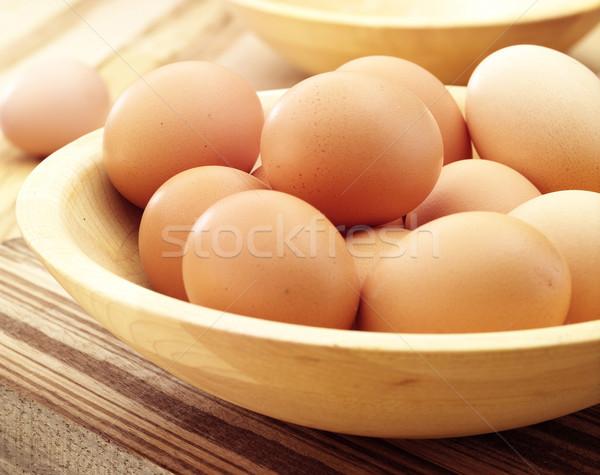 яйца птиц гнезда таблице яйцо куриные Сток-фото © crisp