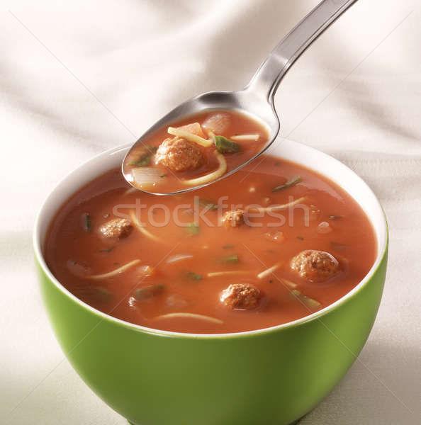 чаши томатный суп таблице ложку Сток-фото © crisp